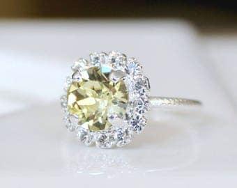 Jonquil Swarovski Crystal Halo Ring in Silver, Adjustable