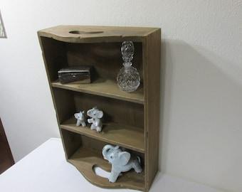 Divided Box Curio Shelf Easy to Carry Tray Vintage Handmade