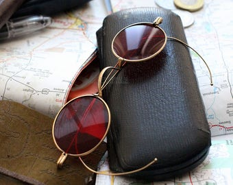 Red Sunglasses , Vintage Sunglasses , Mens Sunglasses , Gold Sunglasses , Travel Gifts , Travel Accessories , Steampunk , Gothic Sunglasses