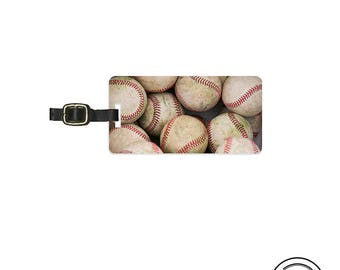Luggage Tag Baseball Sports Lover Luggage Tag With Printed Custom Info On Back, Single Tag