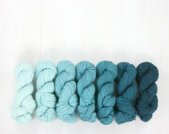 GRADIENT yarn set, FAVE sock: COASTAL