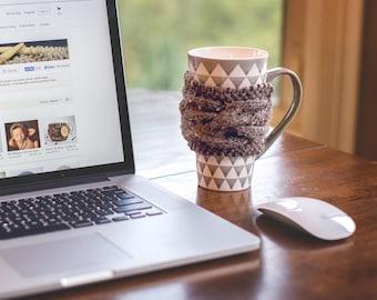 Coffee Mug Cozy, Knit Cup Cozy, Coffee Cup Sleeve, Coffee Cup Cozy, Knit Coffee Sleeve, Coffee Cozy, Rustic Decor, Hygge Decor, Rustic Gifts