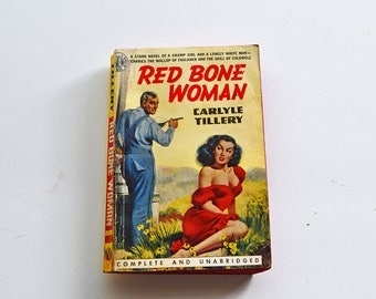 Red Bone Woman by Carlyle Tillery Vintage 1951 Avon Paperback Fiction Book