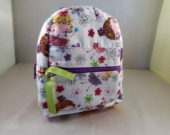 Mini backpack Child School Pretend Play Princess Fairy Back pack  Ready to ship Accessories Pencil Bag Set
