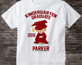 Personalized Kindergarten Graduate Shirt Kindergarten Graduation Shirt Child's Back To School Shirt 05022014a