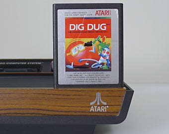 Stranger Things Gift, Vintage Atari 2600 Video Game, Dig Dug, 80s Gift for Kids, Gift for Men, Gamer Gift, Classic Arcade Game, Gift for Her