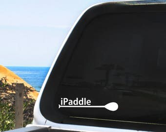 iPaddle SUP Vinyl Decal - Stand Up Paddle Boarding - Multiple sizes and colors, Indoor / Outdoor