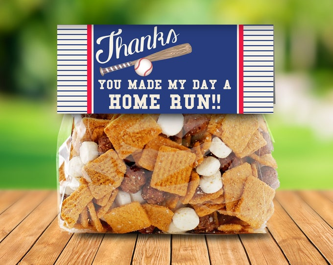 Baseball Treat Bag Topper | Little Slugger Party, Baby Shower,Baseball Party,Sports | EDITABLE Text - INSTANT Download Printable PDF