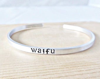 Waifu jewelry, adjustable bracelet, gift for girlfriend from boyfriend, wife, from husband, anime, video game, gamer, personalized, japanese