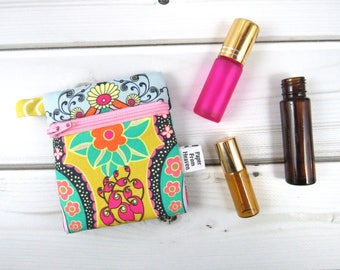 Mini Essential Oil Bag - Brit Boutique - roller bottle case travel case essential oil storage IEM case, earbud holder, rollerball