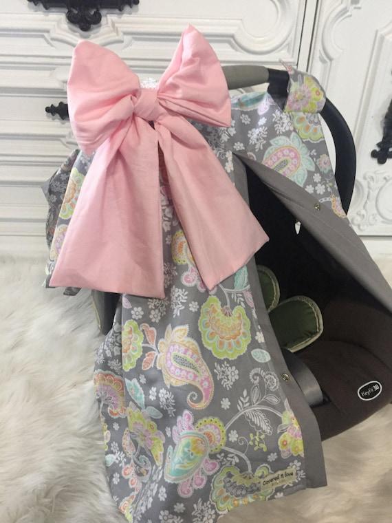 Car seat canopy / ADD a matching Jumbo bow