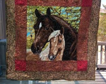 Western baby quilt
