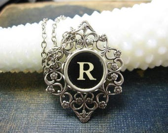 Typewriter Key Jewelry Letter R