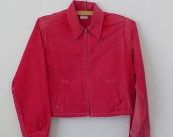 1950s Vintage Boys Jacket • Vintage Child's Red Spring Jacket • Sally's Togs Vintage Youth Jacket