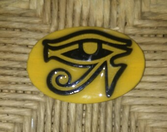 Eye of Ra Refrigerator Magnet mustard gold Color