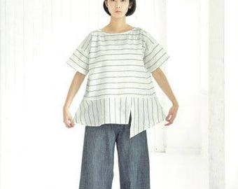 Clothes made with Straight Lines by Yoshiko Tsukiori (Japanese craft book, Japanese sewing book)