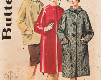Butterick 2877 / Vintage 60s Sewing Pattern / Coat Jacket / Size 14 Bust 34