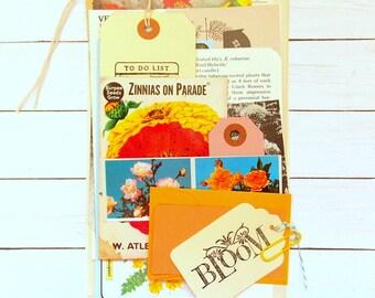 Vintage Garden Ephemera Scrap Pack / Inspiration Kit / 20+ Pieces / Planner Supplies / Junk Journal / Scrapbook Supply