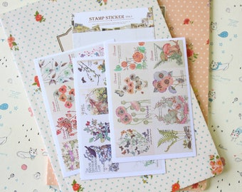 Flowers Stamp Stickers ver 03