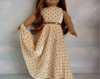 18 inch doll clothes - 281 Velvet Polka Dot Gown -  FREE SHIPPING USA