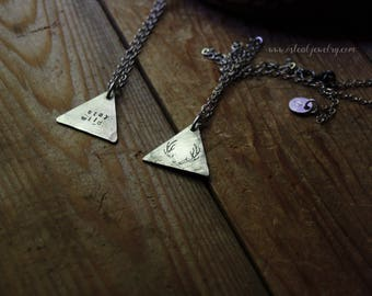 stay wild  - hand stamped pendant