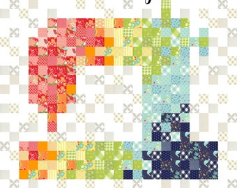 Pixelated Sewing Machine PDF Quilt Pattern