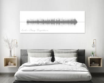 First Dance Lyrics Sound Wave, Let's Stay Together, Personalized Wedding Song Canvas, Your Song On Canvas, Large Canvas
