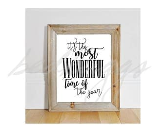 Its the Most Wonderful Time of the Year Svg/ Christmas Svg / Holiday Svg / Winter Svg /.svg/pdf/.png Silhouette Studio, Cricut Christmas