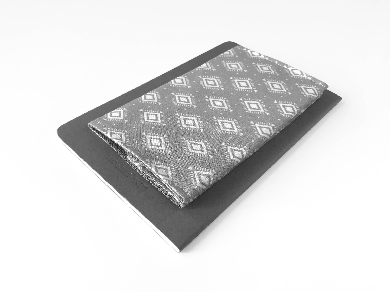 Modern Checkbook Cover - Gray Check Book Cover - Aztec Checkbook ...