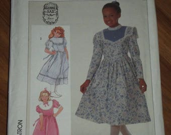 Simplicity 7401 Sewing Pattern Girl Size 8 Dress Gunne Sax Jessica McClintock