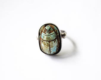 Antique Egyptian Revival Scarab Ring c.1920