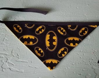 READY TO SHIP- Large Batman Dog Bandana