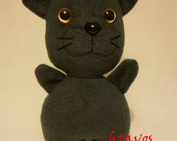 Grey Cat-Plush Toy