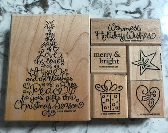 Christmas in July Sale. Retired Stampin' Up Christmas tree.