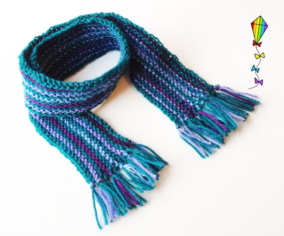 Damson Pixie Scarf - Cute Children's Scarf Warm Winter Cosy Scarf for Kids