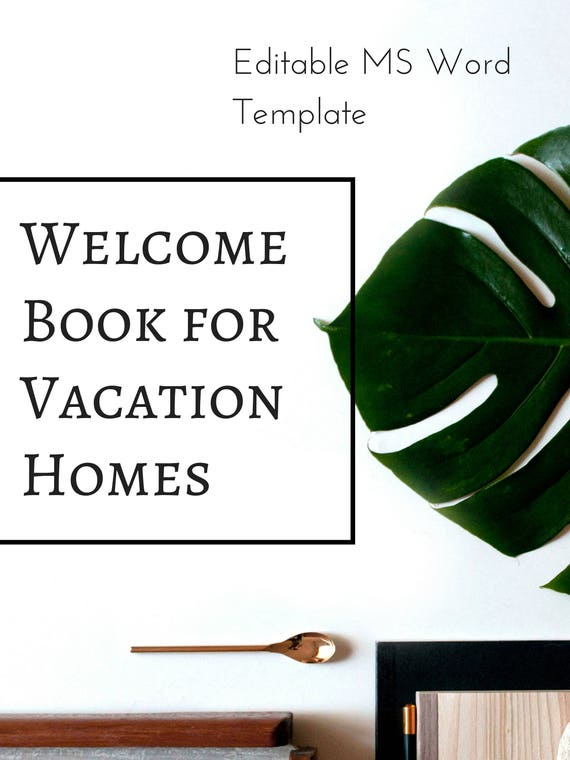 vacation rental welcome book template airbnb printable