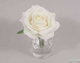 Child's Boutonniere. Small Cream White Rose Boutonniere. Pin On Flower. Ring Bearer Button Hole. Father Daughter Dance. Tea Rose Collection