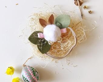 Easter Bunny Hair Bows, Bunny Tail, giddyupandgrow