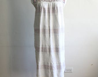 Embroidered Mexican Cotton Gauze Dress