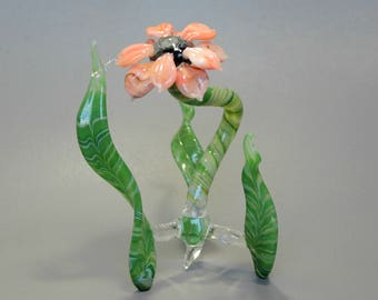 Autumn Flower Sculpture - Lampwork Art Glass- Sunkissed Petals
