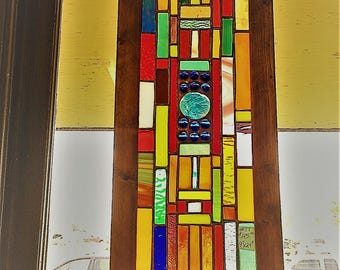 NEW Beautiful stained glass panel art glass suncatcher home and garden window treatment