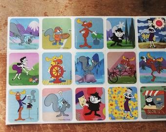 Rocky & Bullwinkle Stickers