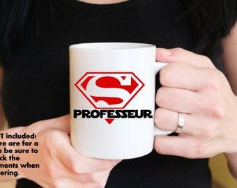 Super professeur mug decal