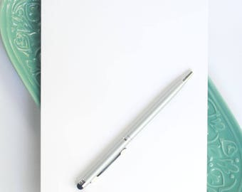 Personalized Large Notepad / Notepad with Name and Lines / Large Customized Notepad / A9 Desk Pad / Half-Letter Size Notepad with Name