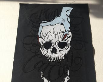 Dead Men Don't Cat Call + Full Color + Glossy Back Patch    (((Lowwbones)))