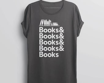 Book Shirt, Literary Tshirt, literary gift for reader, book lover shirt, book nerd gift for english teacher, gift for librarian shirt, vneck