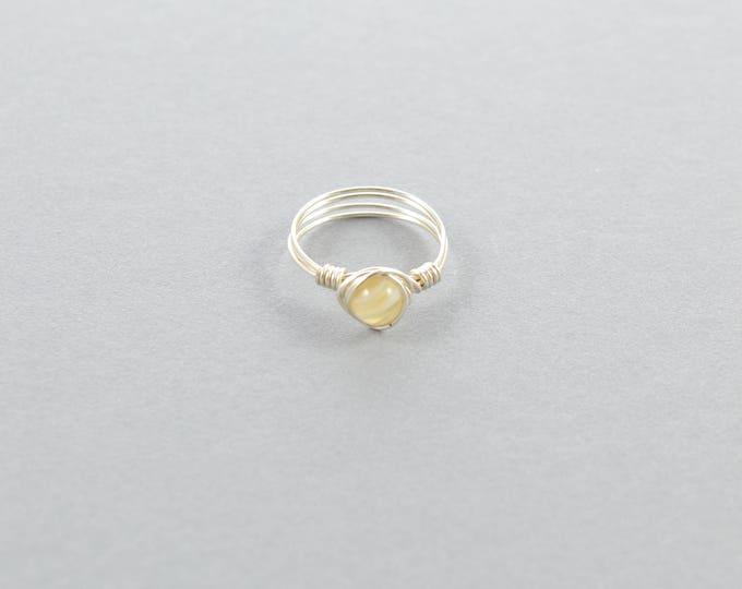 Natural Agate Gemstone Ring