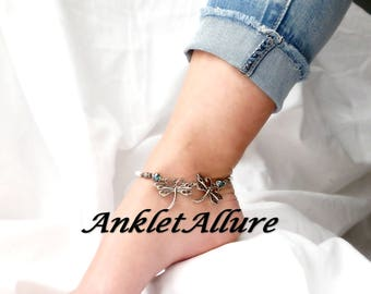 FRIENDSHIP Anklet Ankle Bracelets Dragonfly Ankle Bracelet Beach Anklets Besties Jewelry  GUARANTEED Anklets for Women