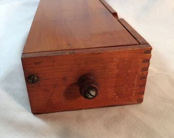 Antique Wooden Glove Box Patented Oct. 7, 1897, The Practical Glove Holder A. N. Russell & Sons, Ilion, N.Y.