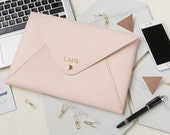 Envelope Personalized Leather MacBook 12 Inch Sleeve , Macbook Leather Sleeve 12 inch, Macbook 12 inch Leather case, Macbook holder Leather